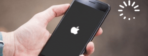 Iphone bloqué sur pomme