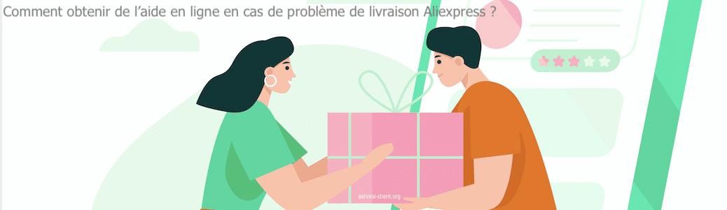 Comment obtenir de l'aide en ligne pour un problème de livraison avec Aliexpress ?