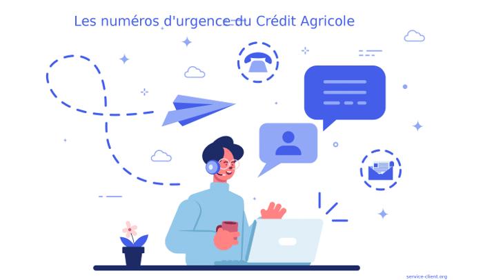 Les numéros d'urgence du Crédit Agricole
