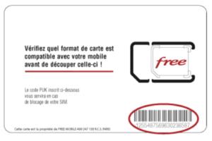 carte sim free bloquee