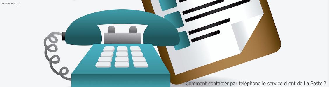 Comment faire pour contacter le service client de La Poste par téléphone ?